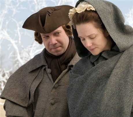 "Paul Giamatti and Laura Linney during a moment of crisis in HBO's ""John Adams"""